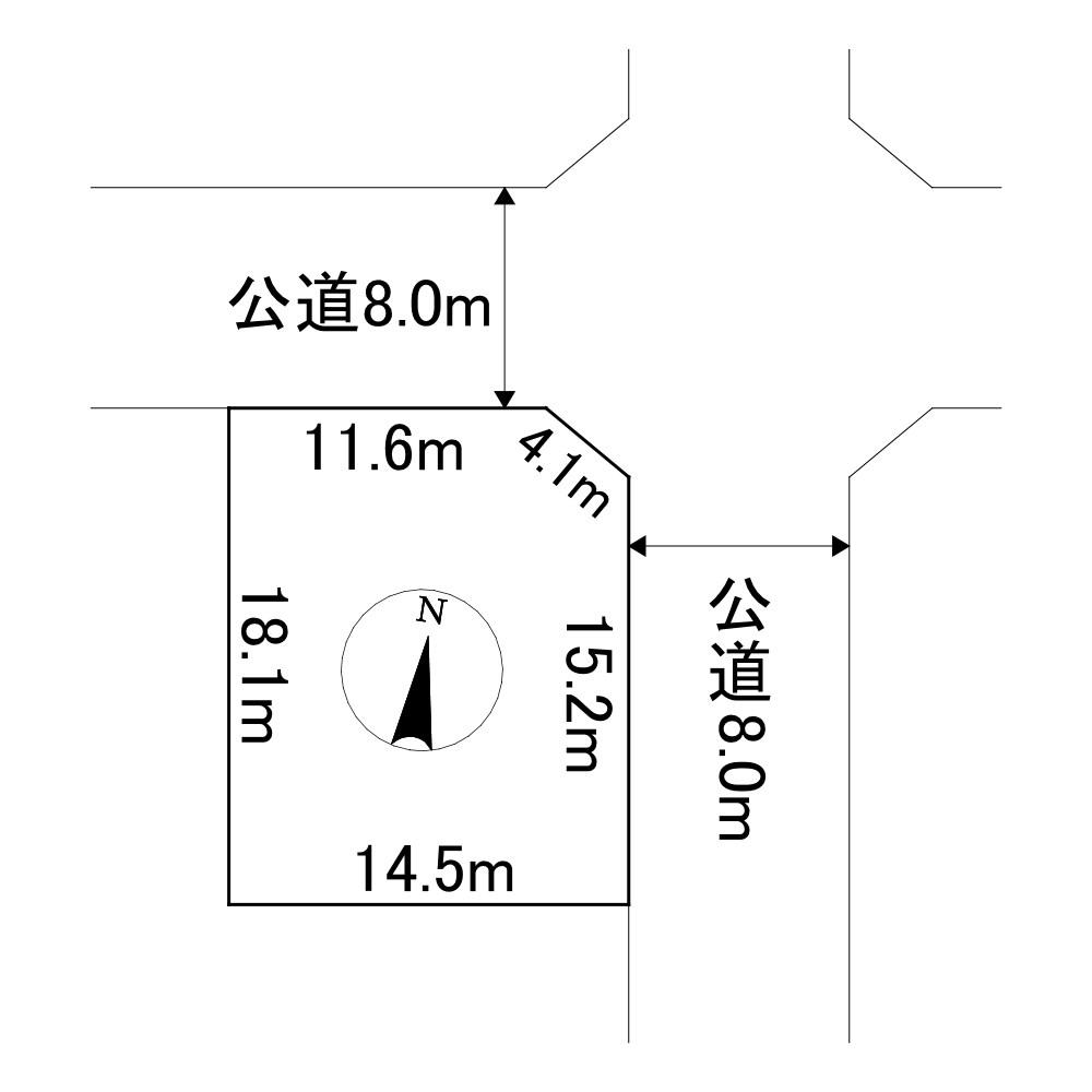 北海道北見市緑ケ丘2丁目 間取図・土地図