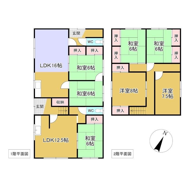 留辺蘂町温根湯温泉82番 戸建て 間取図・土地図
