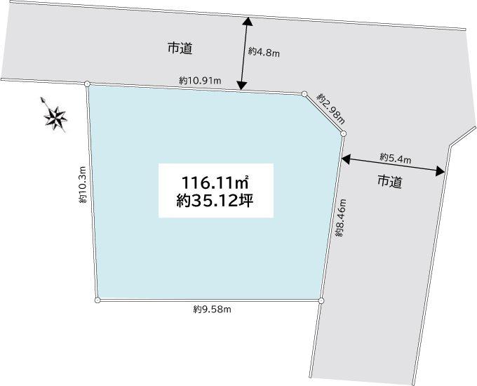 加古川市尾上町養田 売土地 間取り図
