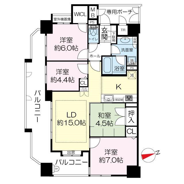 プレサンス新大阪ステーションフロント 間取り図