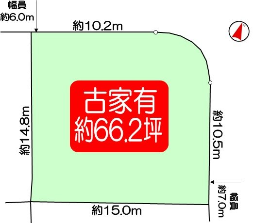 長岡京市河陽が丘2丁目 建築条件なし売土地 間取り図