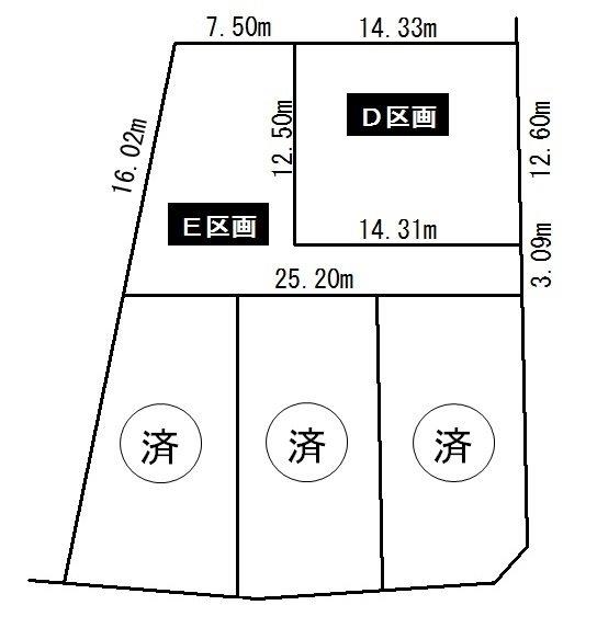 日進市藤塚1丁目 土地 2237.78万円 間取り図