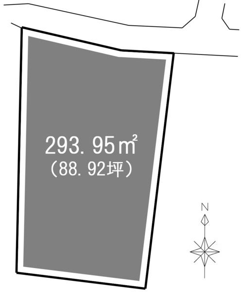 一宮市千秋町芝原 B(調整区域) 間取図・土地図