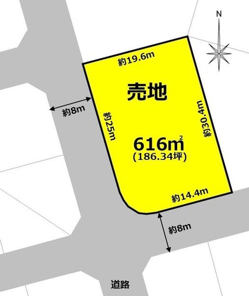犬山市羽黒堂が洞 売地 間取図・土地図