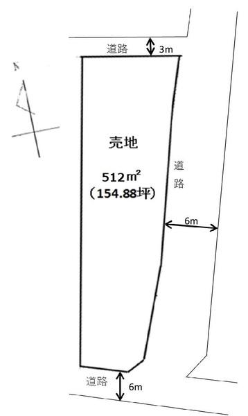 小牧市市之久田2丁目 売地 間取図・土地図