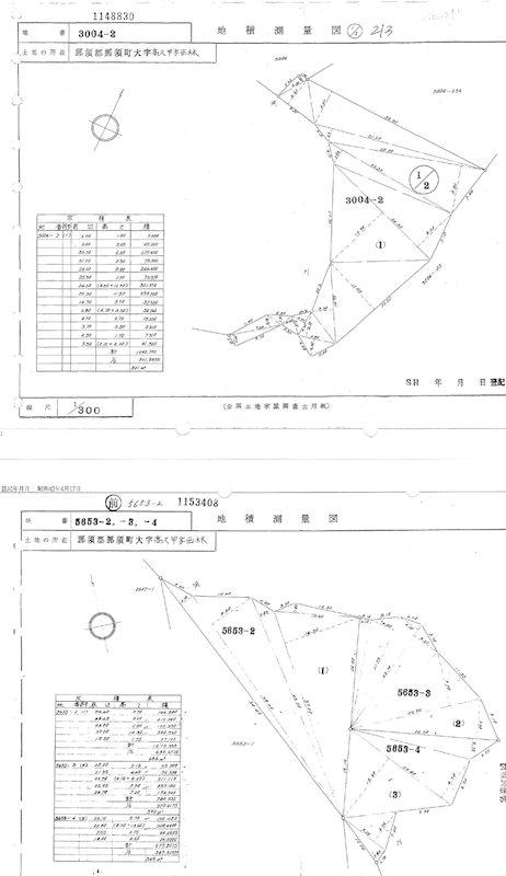 那須郡那須町大字高久甲字西林 間取図・土地図