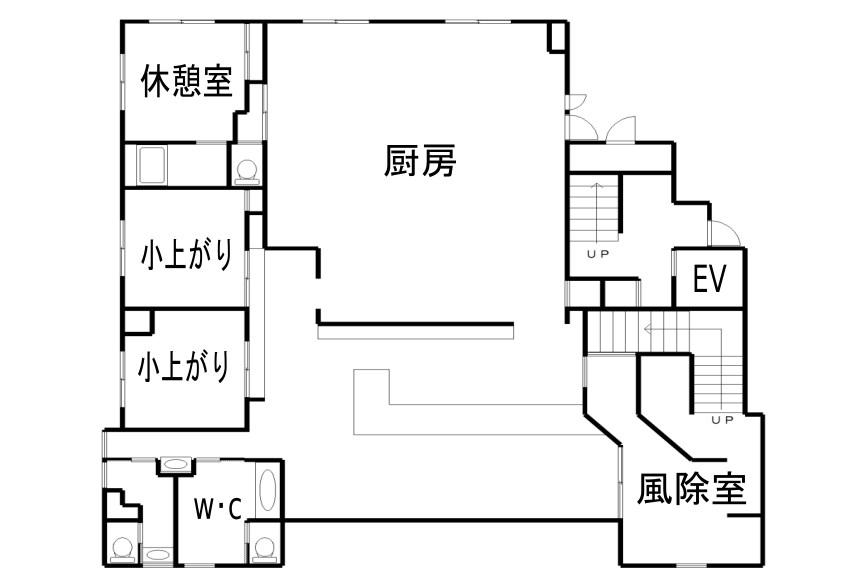 ときがわ町玉川売店舗・住宅 間取り図