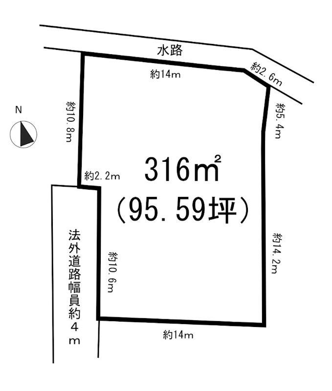 東松山市石橋 売地 間取り図