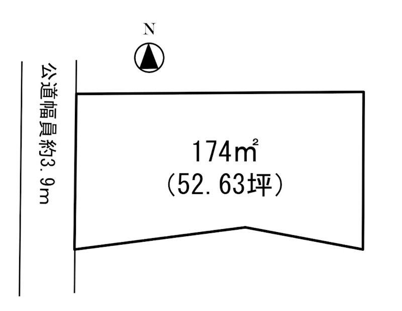 熊谷市冑山 売地 間取り図