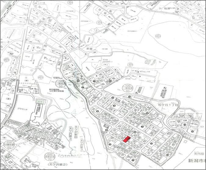 新潟市秋葉区松ヶ丘1丁目 間取り図