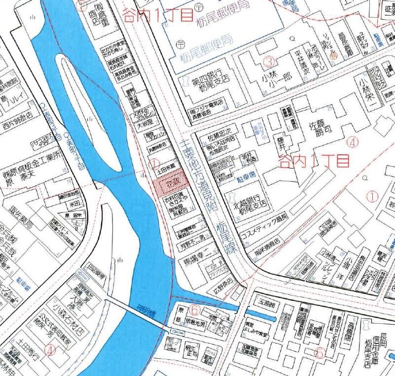 長岡市谷内1丁目 土地 間取り図