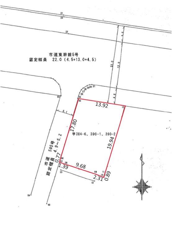 千歳3丁目 売土地 間取り図