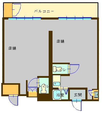 小林マンション 3AB号室 間取り図