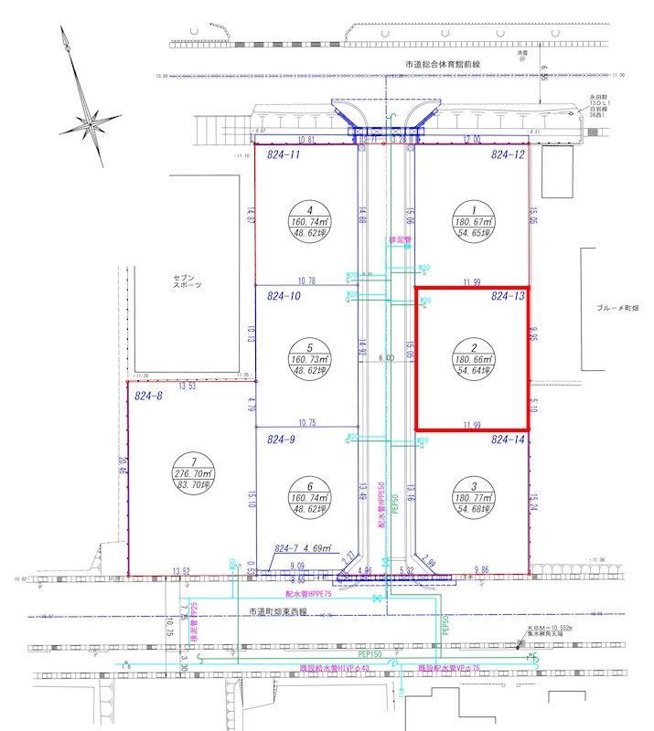 グリーンヒルズ分水地蔵堂4丁目 区画2 間取り図