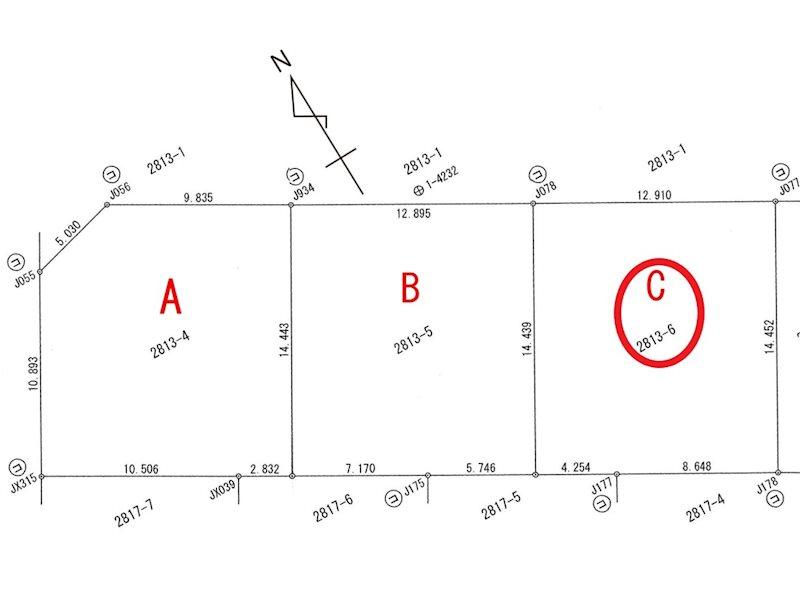 グリーンヒルズ地蔵Ⅱ 区画C 間取り図