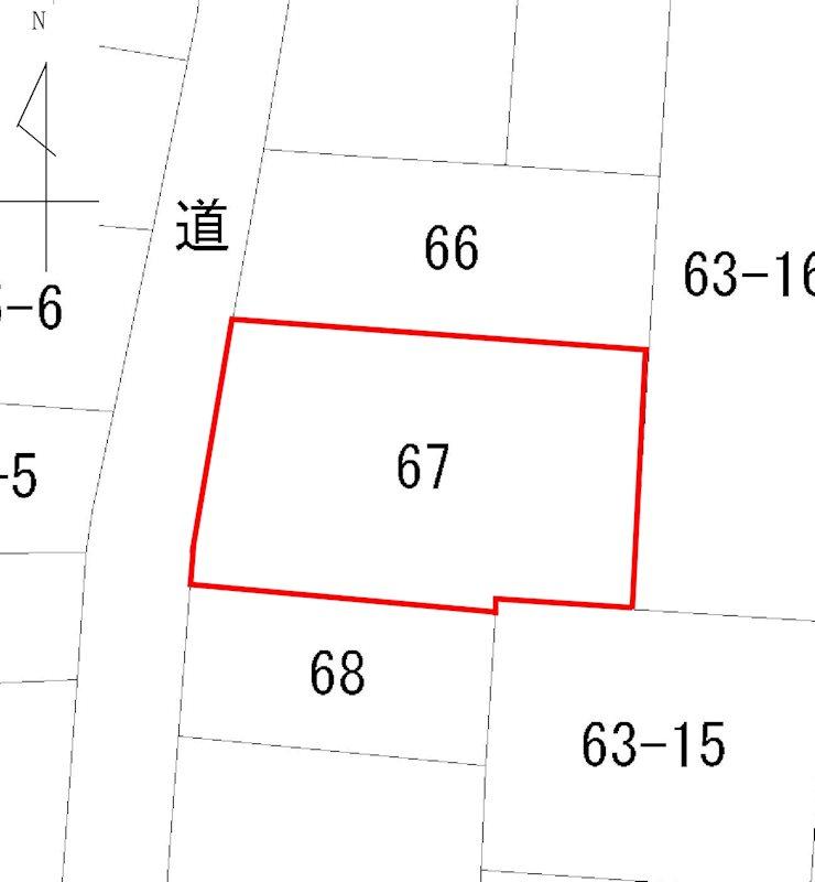 台町1丁目 売土地 間取り図