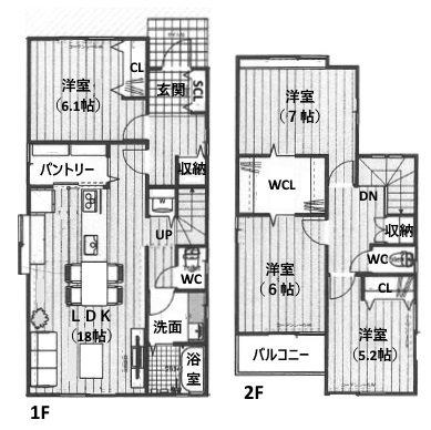 名古屋市中川区供米田2丁目 間取り図
