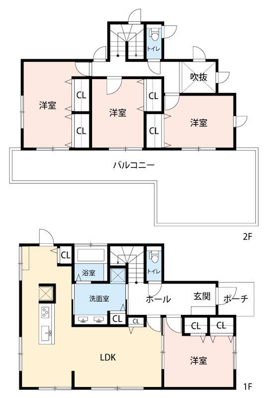 日進市藤塚 リノベーション戸建 間取り図