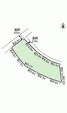 伊豆の国市長岡 土地 間取り図