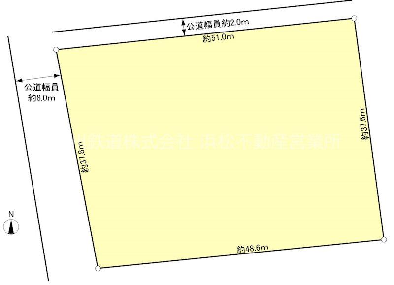 浜松市東区市野町 土地 間取り図