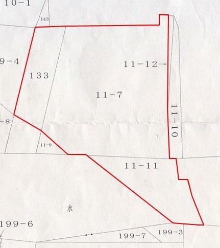 台3地割 土地 間取り図