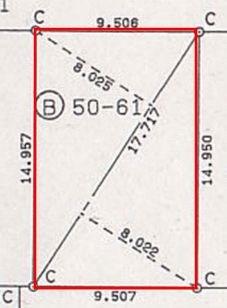 高木第20地割 土地 間取り図