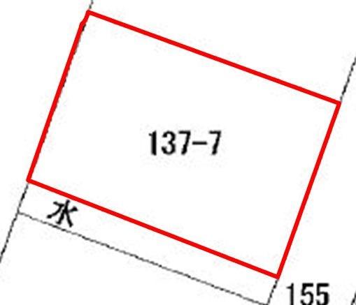 南寺林第5地割 土地 間取り図