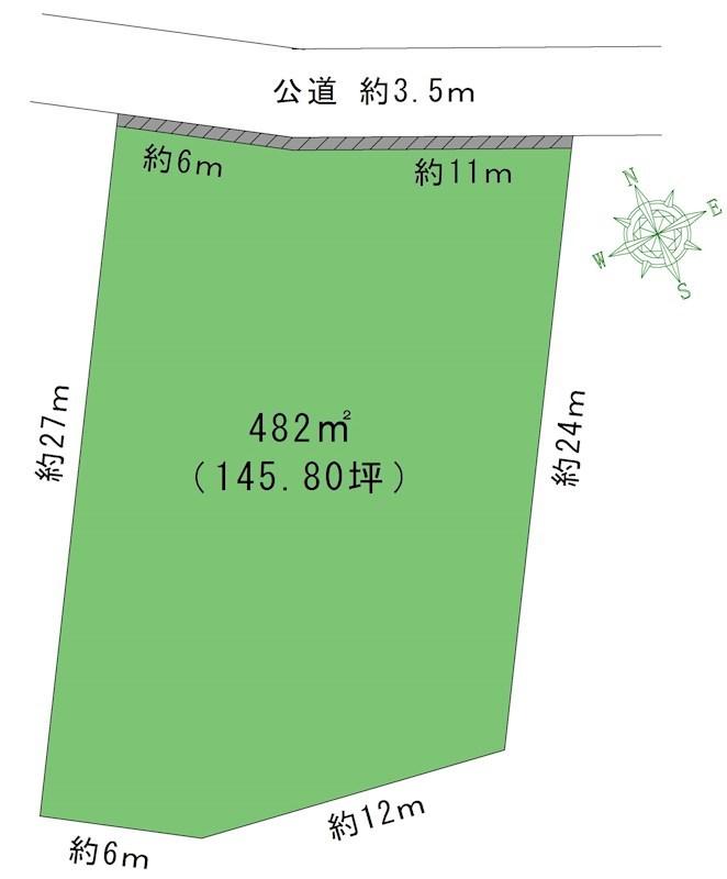 瀬戸市本郷町売地 間取図・土地図