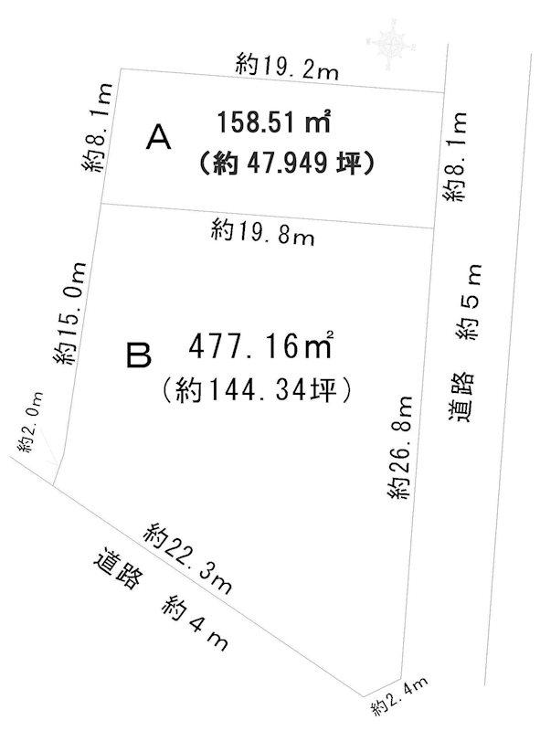 駒ヶ根市赤穂売地 間取図・土地図