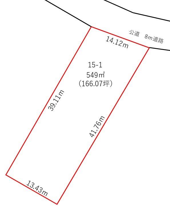 福井市東郷二ケ町 間取図・土地図