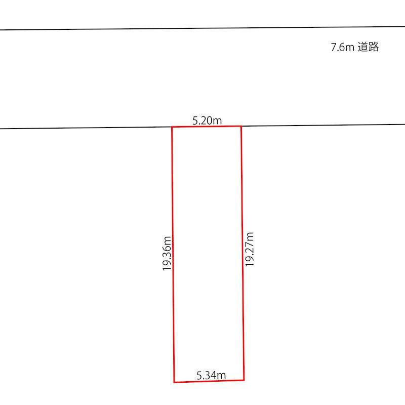 福井市春山2丁目 間取図・土地図
