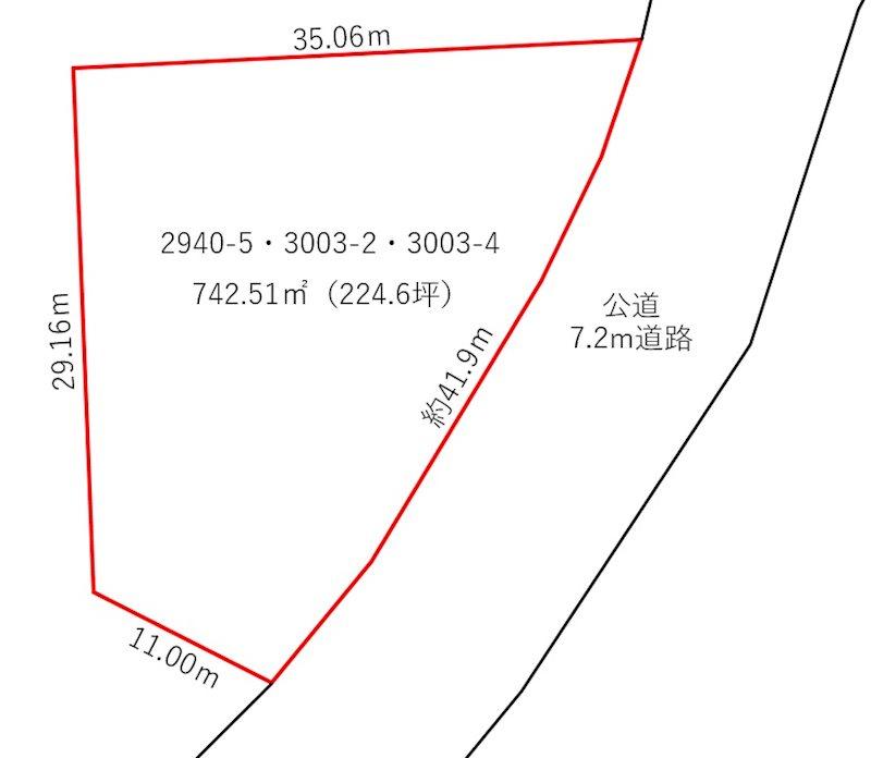 坂井市三国町運動公園3丁目 間取図・土地図