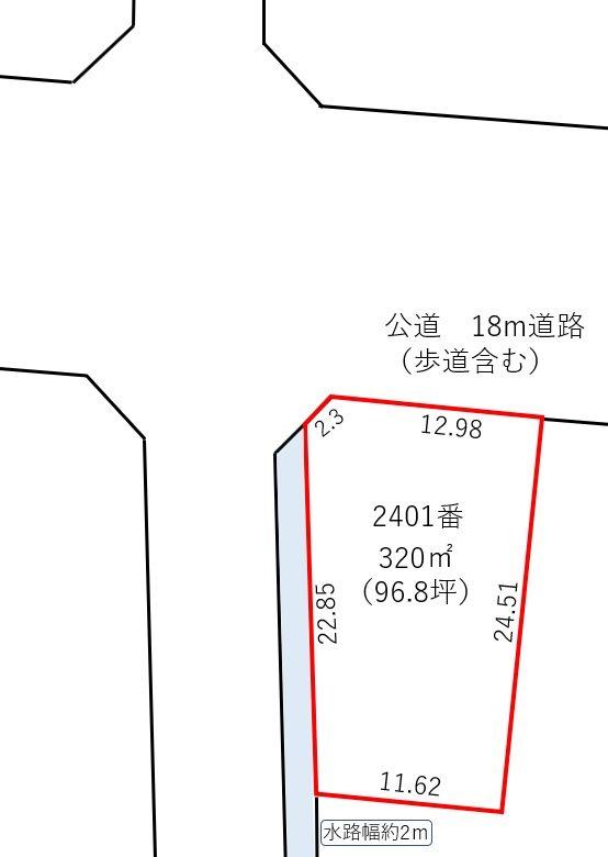福井市上野本町4丁目 間取図・土地図