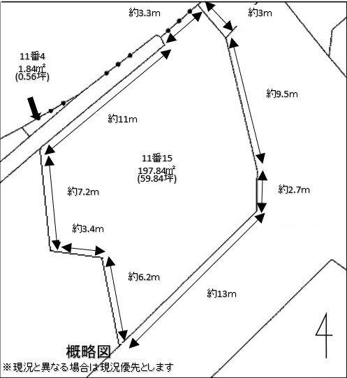 柴田郡柴田町船岡南1丁目11番15、11番4 間取り図