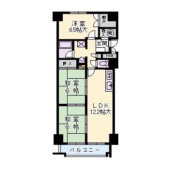 緑地東ロイヤルマンション(収益) 間取り図