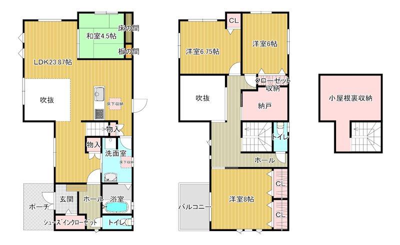 戸建 平方ニュータウンⅡ 15号地  間取り図