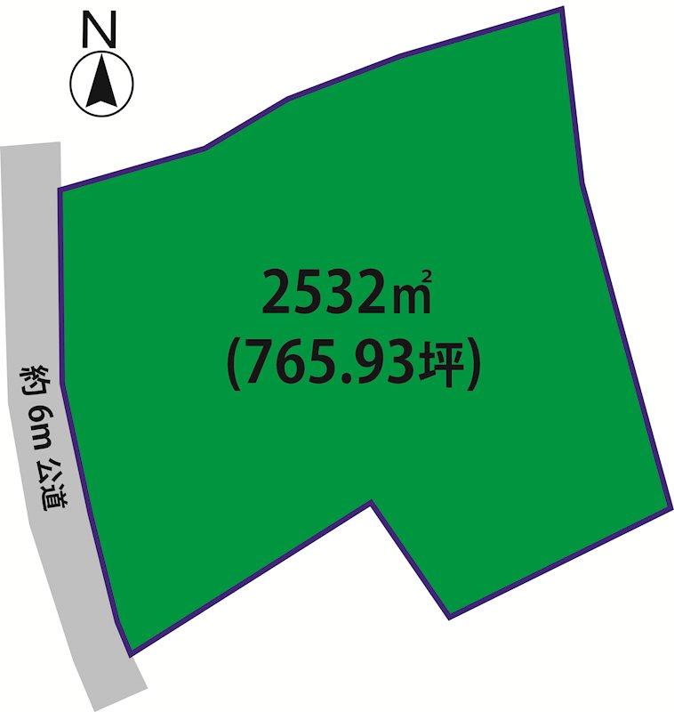 【佐和】国道6号至近の約765坪の敷地♪事業用地にもおすすめです♪ 2300万円 間取り図