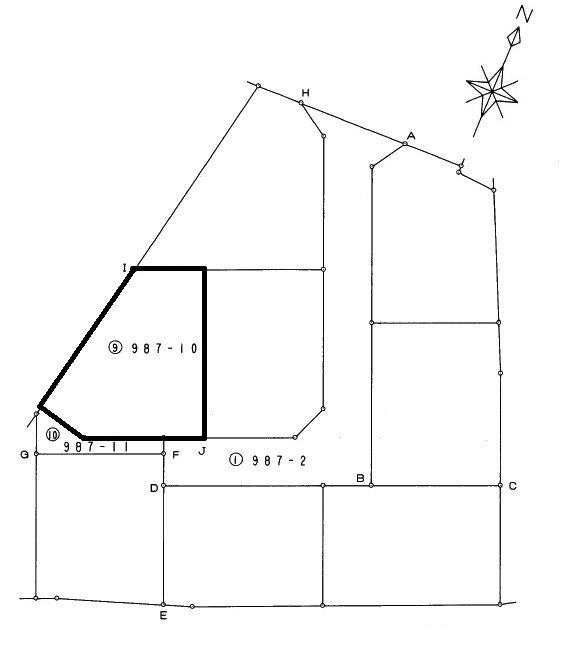 塩谷町金枝② 土地 間取り図
