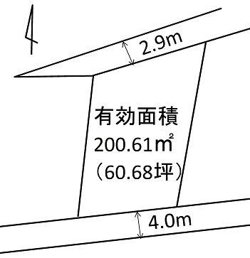 宇都宮市東町 土地 間取り図