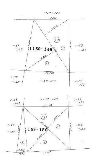 宇都宮市松風台 土地 間取り図