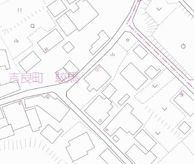 吉良町駮馬 土地建物 間取り図