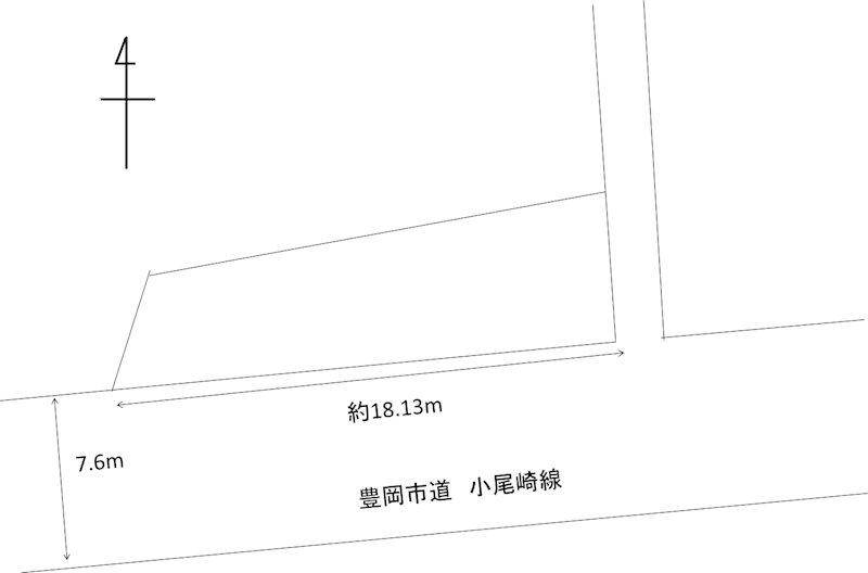 京町の土地 間取り図
