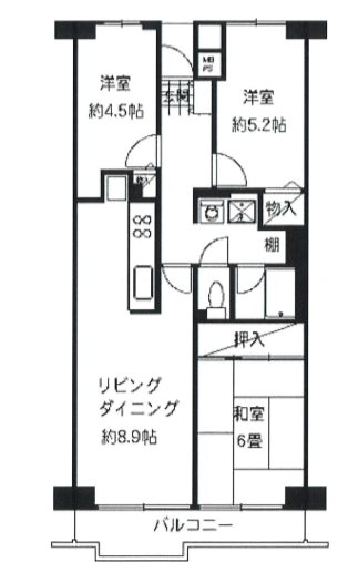 パレ平塚すみれ平弐番館  中古マンション 間取り図