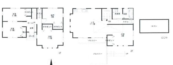 平塚市城所 注文住宅 中古戸建 間取り図