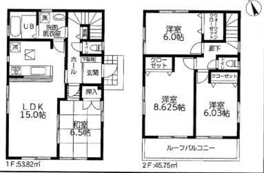 平塚市徳延 19-2期 新築戸建 3号棟 間取り図