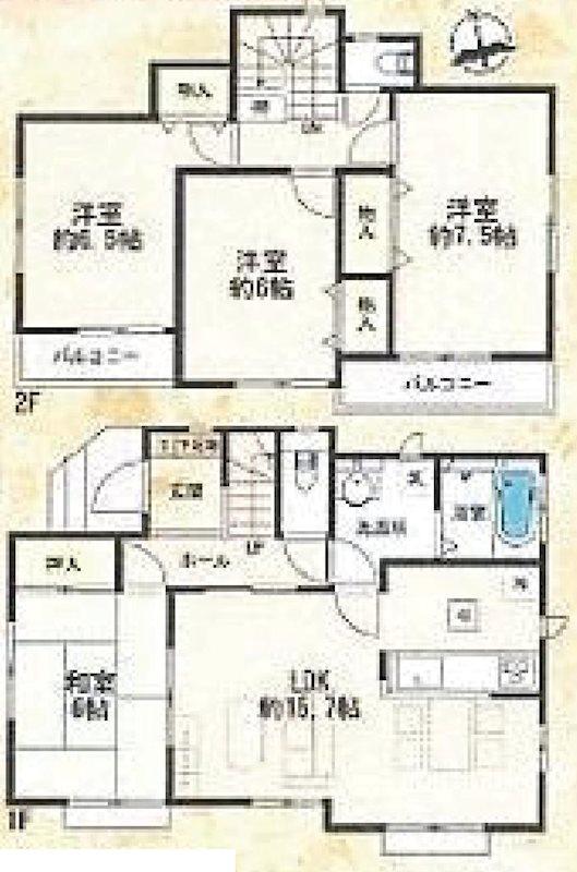 平塚市東真土4丁目 新築戸建 全15棟 I号棟 間取り図