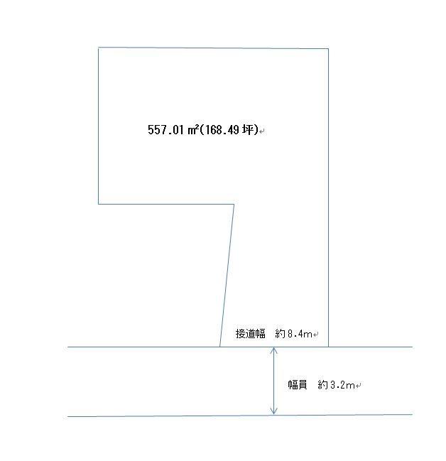 楠橋上方二丁目土地 間取図・土地図