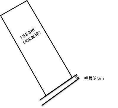 鈴鹿市住吉町 土地 間取図・土地図