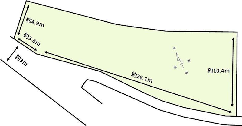 鈴鹿市神戸7丁目 土地 間取り図