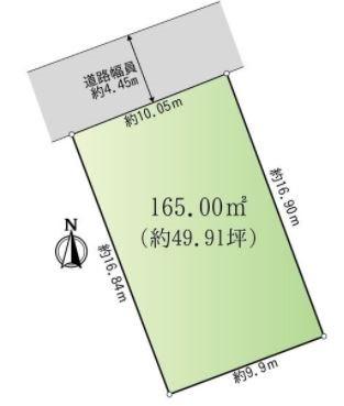 岐阜県多治見市昭栄町 土地 間取り図